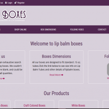 lip balm boxes, box design website, online boxes, boxes, Craft Colored Boxes , White Boxes , White Stand-Up Lip Balm Boxes