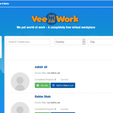 VeeWork website, virtual workplace , workplace, find online work website